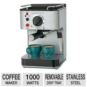 CUISINART 1000-WATT 15-BAR ESPRESSO MAKER 