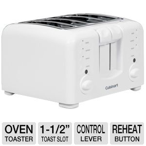 Cuisinart Electronic 4-Slice White Toaster