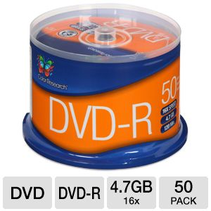 Color Research DVD-R 50-Pack