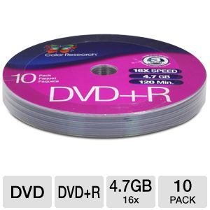 Color Research DVD+R 10-Pack