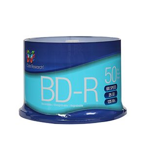 COLOR RESEARCH 50 Pack BD-R Blank Media