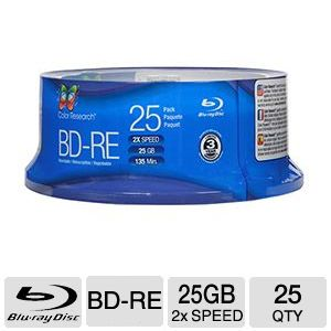 COLOR RESEARCH 25 Pack BD-RE Blank Media