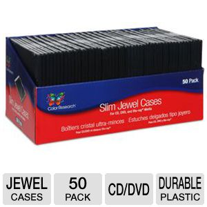 Color Research 50-Pack Slim Jewel Cases