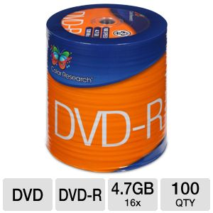 Color Research DVD-R 100-Pack