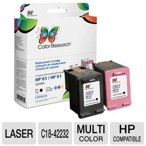 Color Research HP 61 Toner Cartridge Combo Pack