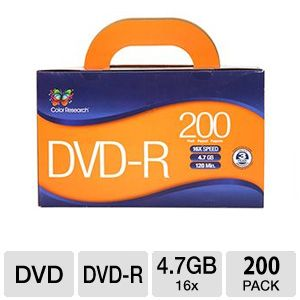 Color Research DVD Recordable Media