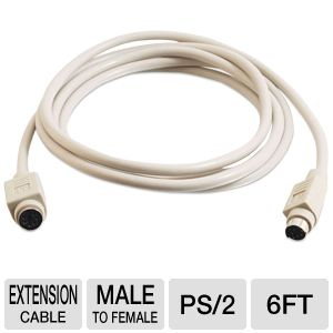 PS/2 Mouse Keyboard Extension Cable M/F