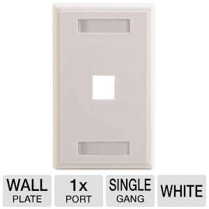Cables To Go 1-Port Keystone Wallplate