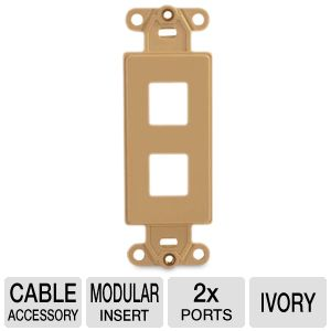 CTG 2 Port Multimedia Insert Decorative Ivory