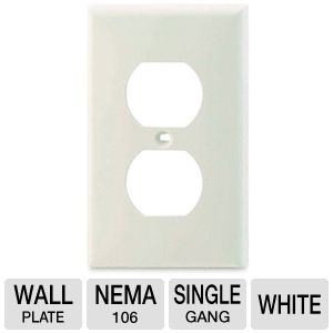 Cables To Go White Electrical Wall Plate