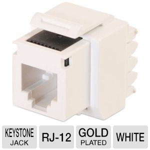 Cables To Go Cat3 RJ-12 TelePhone Keystone Jack
