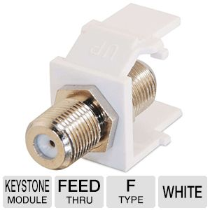 Cables To Go F-Type Keystone Module