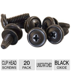 CTG 12/24 Cup Head Screw Black Oxide, 20 Pack