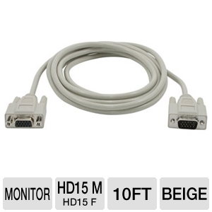 Cables To Go 10-Foot HD15 Monitor Cable