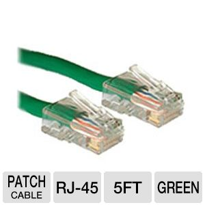 Cables To Go 5-Foot Cat5e Patch Cable, Green
