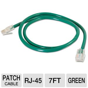 Cables To Go 7-Foot Cat5e Patch Cable, Green