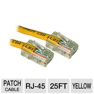 Cables To Go 25-Foot Cat5e Patch Cable, Yellow