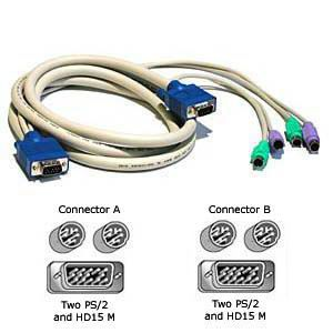 Cables To Go 6-Foot Tru-Spec 3-In-1 KVM Cable
