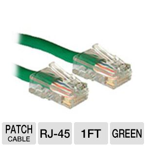 Cables To Go 1-Foot CaT5e Cable, Green