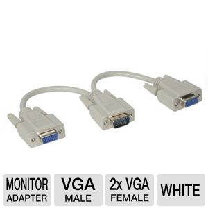 Cables To Go 8-Inch 1M/2F HD15 Splitter