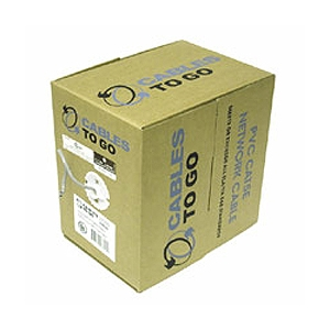 Cables To Go 500-Foot Cat5e 350Mhz Solid PVC Cable