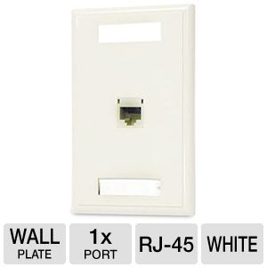 Cables To Go Cat5e RJ45 1-Port Module Wall Plate