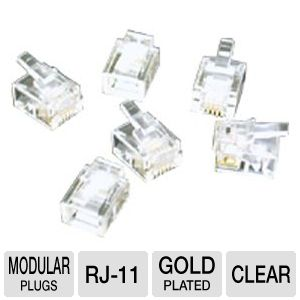 Cables To Go RJ-11 6x4 Modular Plug For Flat Cable