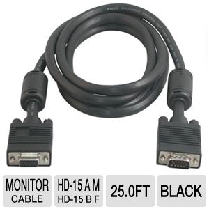 Cables To Go 25-Foot HD15 Monitor Extension Cable