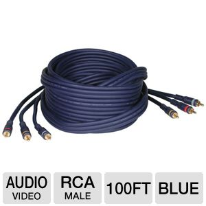 Cables To Go 100-Foot RCA Audio/Video Cable