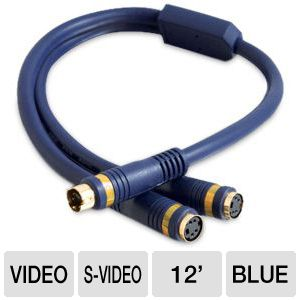 Cables To Go 12-Inch S-Video Y-Cable Splitter