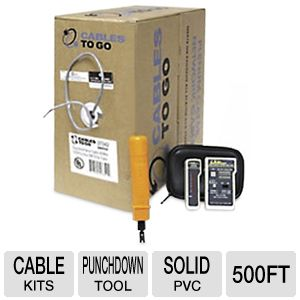 Cables To Go Cat5e Network Cable Kit