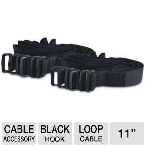 Cables To Go 12 Pack Black Cable Straps