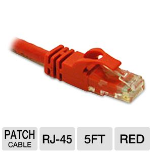 Cables To Go 5-Foot Cat6 Snagless Patch Cable