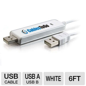 Cables to Go USB 2.0 Driverless Transfer Cable 6ft