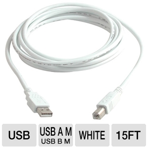 Cables To Go 15-Foot USB 2.0 A/B Cable