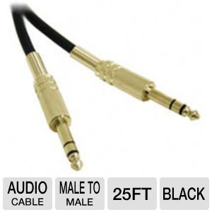 Cables To Go 25-Foot TRS Male Pro Audio Cable