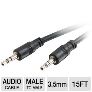 Cables To Go 15ft Stereo 3.5mm Audio Cable