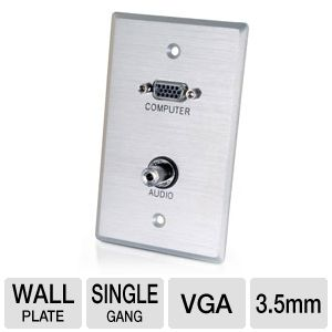 Cables To Go  Single Gang Wall Plate