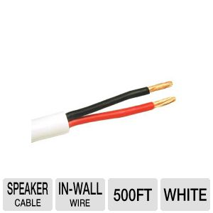Cables To Go 500 Foot In-Wall Speaker Wire Cable