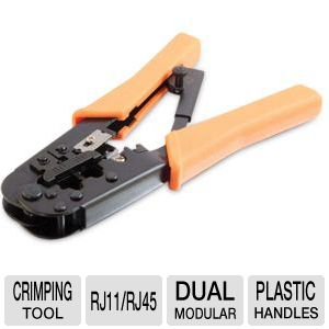 C2G Dual Modular RJ11/RJ45 Ratchet Crimping Tool