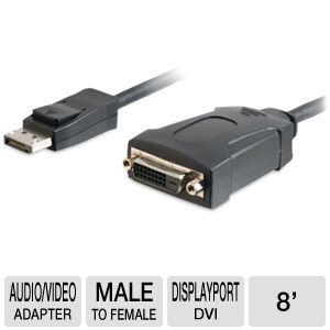 Cables To Go 54131 8-inch DisplayPort Adapter