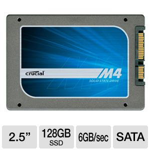 "Crucial CT m4 128GB SATA 6Gb/s 2.5"" Solid State Dr"