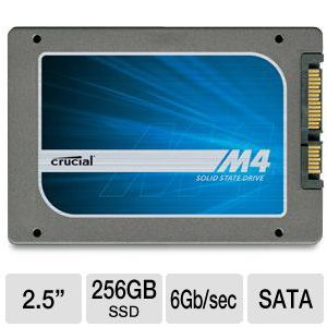 Crucial m4 256GB SATA 6Gb/s 2.5&quot; Solid State Drive