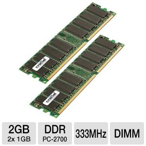Crucial 2GB Dual Channel Memory