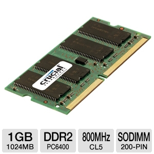 Crucial 1GB Laptop Memory Module