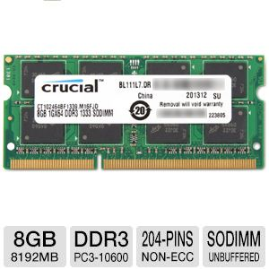 Crucial 8GB Notebook Memory Module