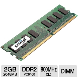 Crucial 2GB Desktop RAM  - CT25664AA800