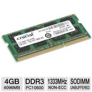 Crucial 4GB Laptop Memory Upgrade