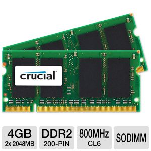 Crucial 4GB Mac Memory Module Kit