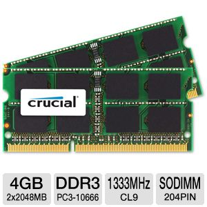 Crucial 4GB (2x 2GB) Mac Memory Modules